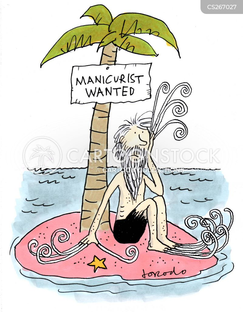 Manicurist Nail Cartoon