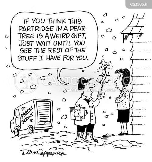 12 Days Christmas Cartoons