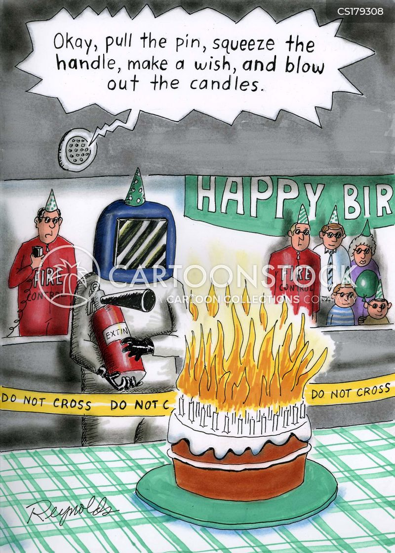 Birthday Candles Out Extinguisher Putting Fire