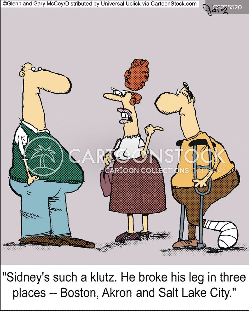 Leg Break Cartoons and Comics - funny pictures from ...