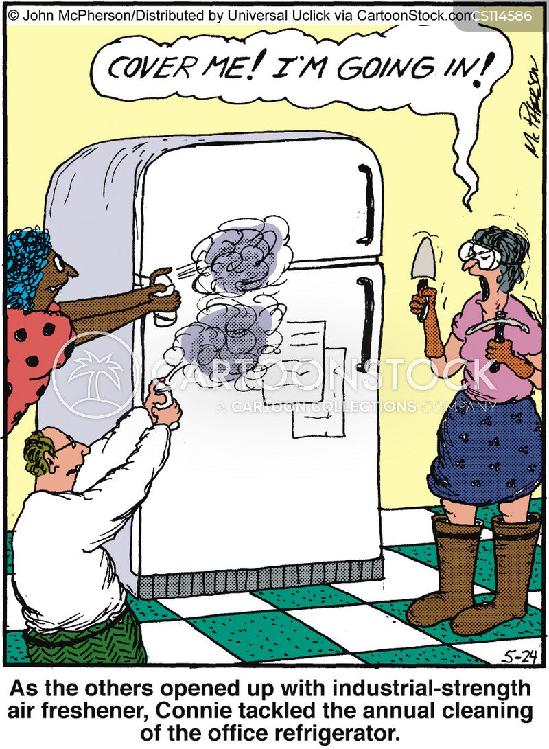 Fridge Clean Out Cartoon