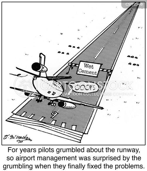 Runway cartoons and comics funny pictures cartoonstock, funny cartoons pun cat