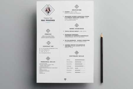24 Free Resume Templates to Help You Land the Job free diamond resume template photoshop
