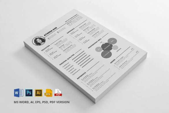 24 Free Resume Templates to Help You Land the Job Free Word Illustrator Photoshop Resume Template Download