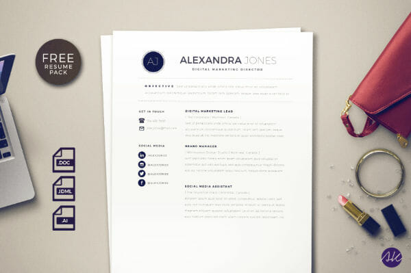 Resume Indesign Template Free   Resume Example 2018     24 free resume templates to help you land the job rh skillcrush com  indesign cv resume