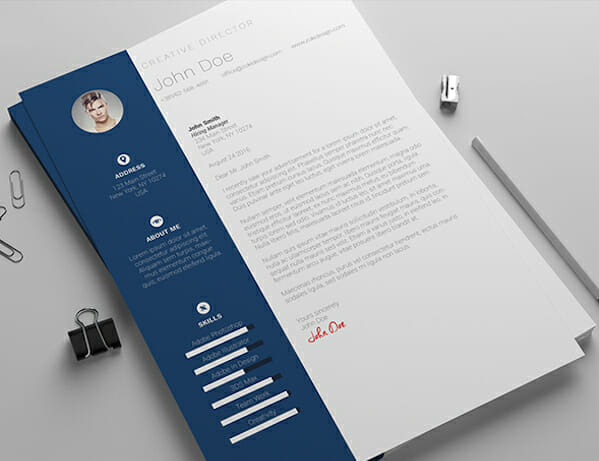 15 Free Resume Templates for Microsoft Word blue microsoft word resume template free