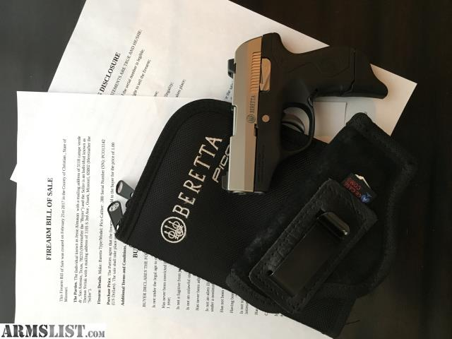 Armslist For Sale Beretta Pico 380 With Concealed Gun