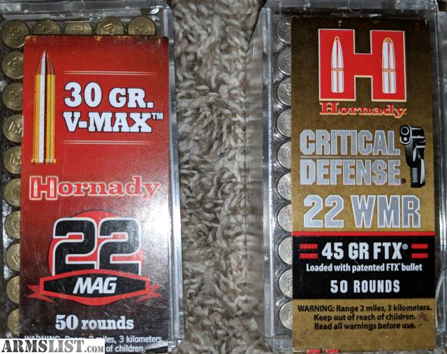 Armslist For Sale Trade 22mag 22wmr Ammo