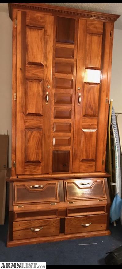 Armslist For Sale Handmade Solid Wood Gun Cabinet