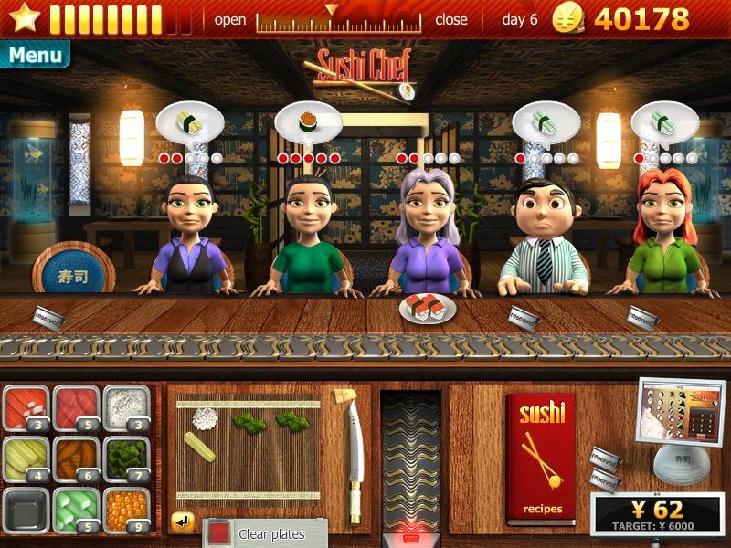 Restaurant Games Sushi Chef