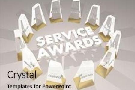 5000  Award PowerPoint Templates w  Award Themed Backgrounds Audience pleasing slides consisting of service     s employee honors  volunteer recognition 3d illustration