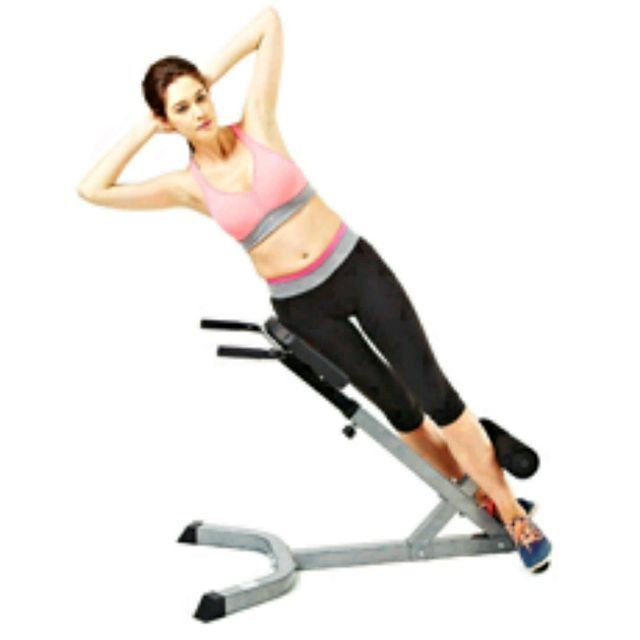 Roman Chair Side Bends Exercise How To Workout Trainer