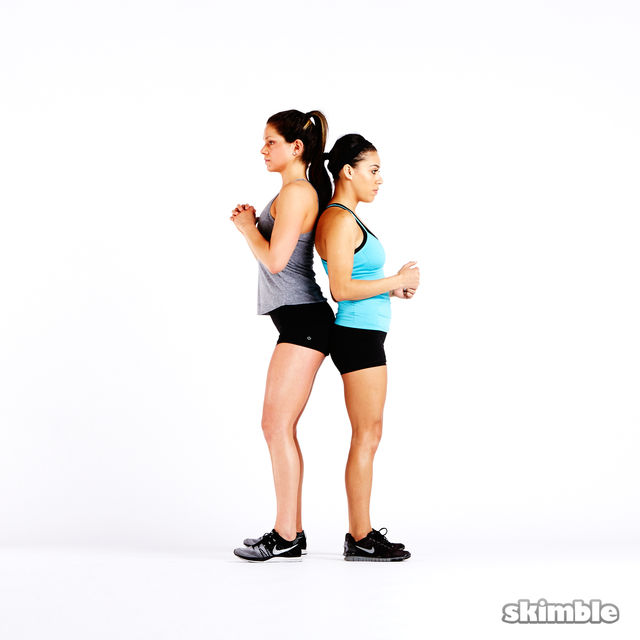 Buddy Wall Sit - Exercise How-to - Workout Trainer by Skimble