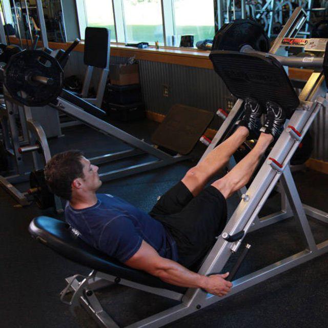 Calf Press On Leg Press Machine Exercise How To