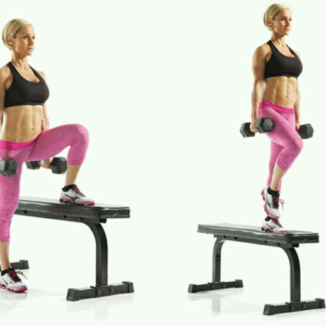 Dumbbell Lateral Step Up - Exercise How-to - Workout ...