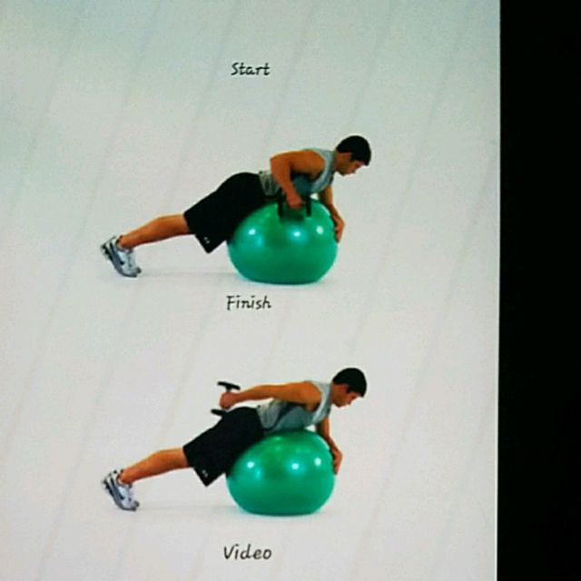 Ball Lying Prone Tricep Extension One Arm Exercise How