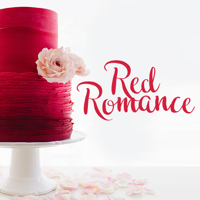 Red Wedding Cakes   Satin Ice Sff Show Case Red Romance