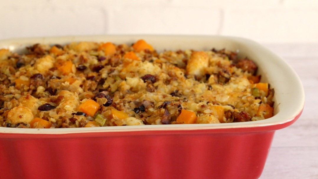 This Tater Tot Stuffing Recipe Will Rock Your Thanksgiving
