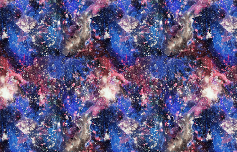Purple Galaxy Watercolor - painted seamless space pattern ...