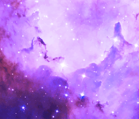 purple galaxy fabric - aspie_giraffe - Spoonflower