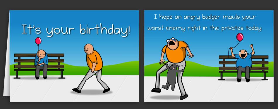 Horrible Cards   Greeting Cards by The Oatmeal Horrible Cards  Greeting Cards by The Oatmeal