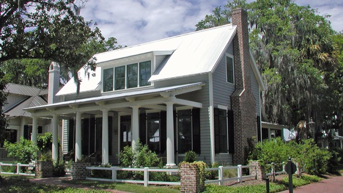 Lowcountry Cottage   Cottage Living   Southern Living House Plans Exterior Front 3 quarter View