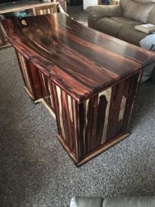 Cocobolo desk   by majors   LumberJocks com   woodworking community amazing desk  well done
