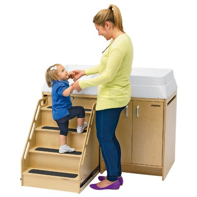 All Changing Table With Locking Stairs By Angeles Options