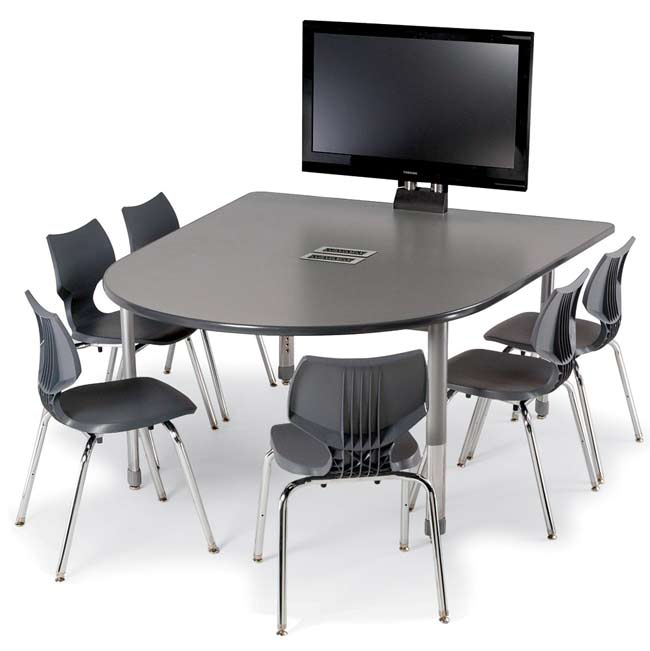 All Interchange Round End Multimedia Table By Smith System