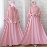 Model Baju Renda Warna Pink 9