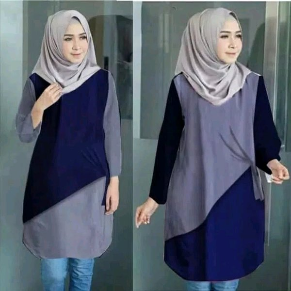 Baju atasan wanita blouse tunik jumbo model terbaru blus mus
