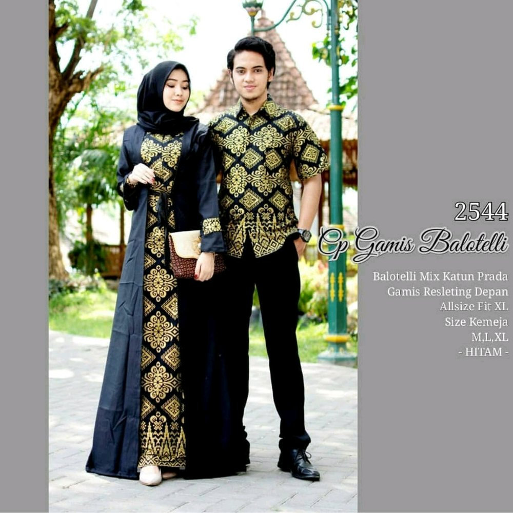 Model Gamis Kombinasi Couple 5