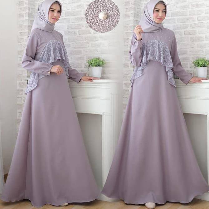 Model Baju Brokat Warna Abu 27