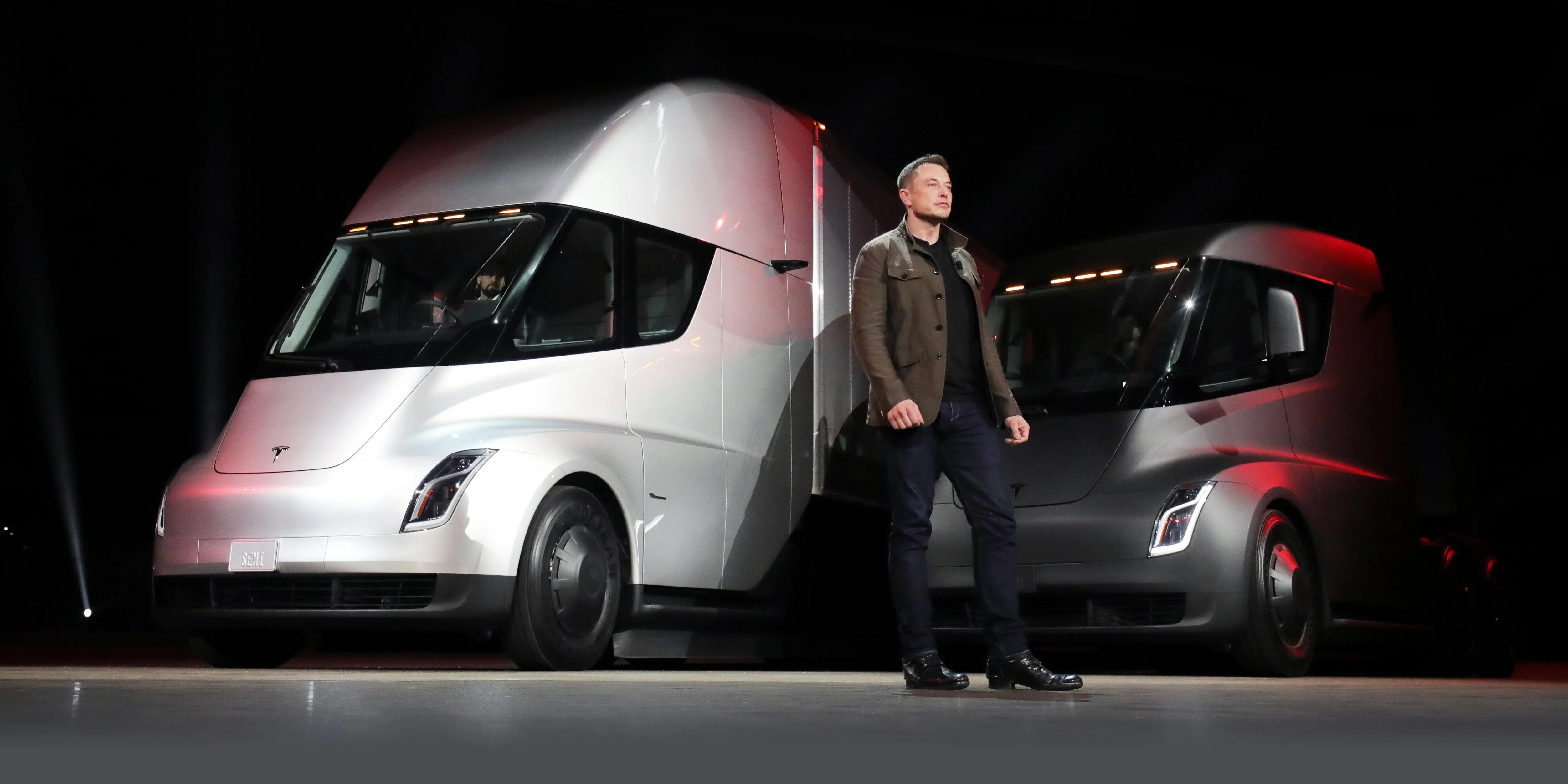 Tesla Semi Truck Revealed Production To Begin In 2019