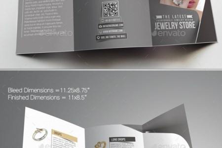 Jewelry Store Trifold Brochure Template  1 by redshinestudio     Jewelry Store Trifold Brochure Template  1   Corporate Brochures