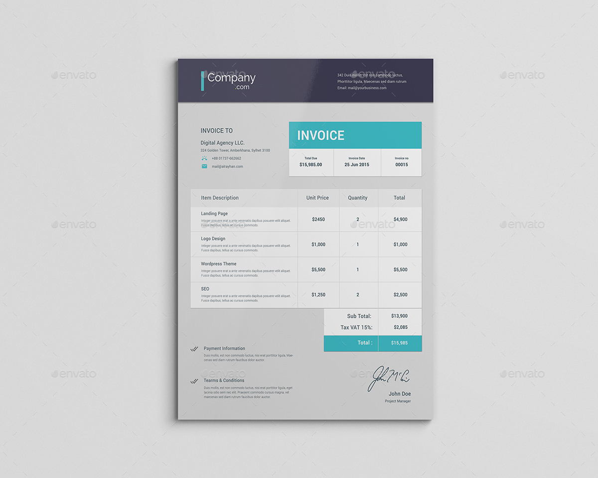 Material Invoice by rtralrayhan   GraphicRiver Material Invoice