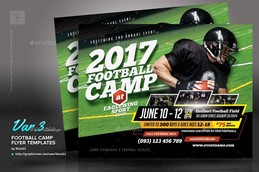 Football Camp Flyer Templates by kinzi21   GraphicRiver     new screenshots 06 graphic river football camp flyer templates kinzi21 jpg