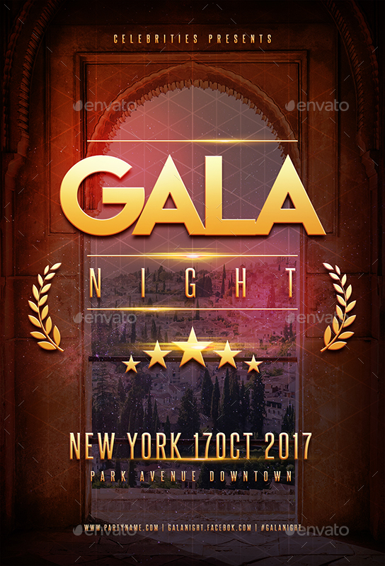 Gala Night Party Flyer By Superboy1 Graphicriver