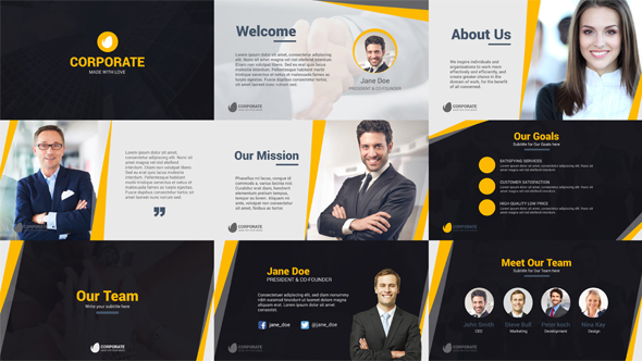 Corporate Business Company Profile By Satforce Videohive