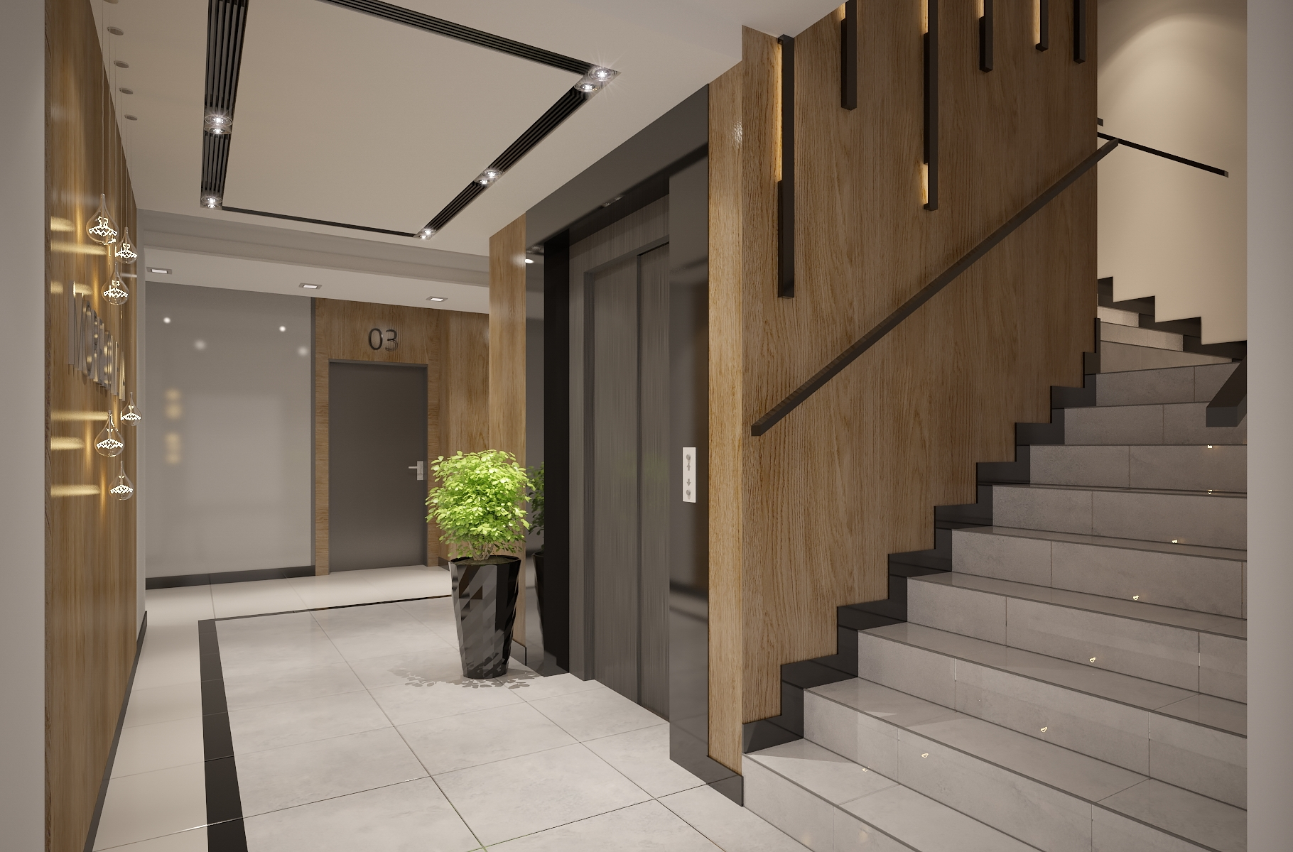 Apartments Building Entrance Hall Area Foyer Lobby With Elevator   Stairs Design In Lobby   Entrance Lobby   Foyer   Architectural   Circle Elevator Design Home   White