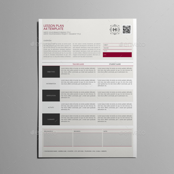 Lesson Plan A4 Template by Keboto   GraphicRiver Lesson Plan A4 Template   kfea 1 jpg Lesson Plan A4 Template   kfea 2 jpg Lesson  Plan A4 Template   kfea 3 jpg