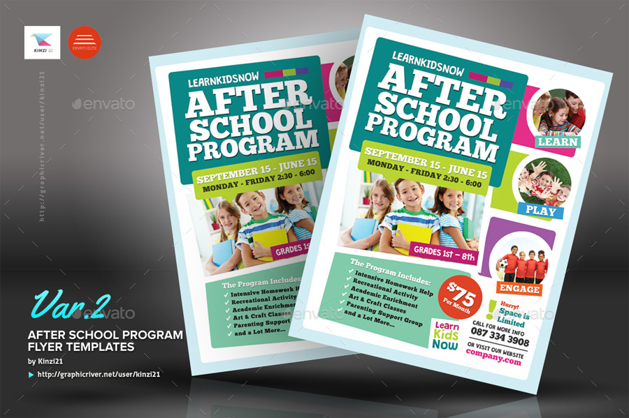After School Program Flyer Templates by kinzi21   GraphicRiver new screenshots 01 graphic river after school program flyer templates kinzi21 jpg