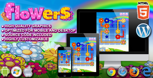 Flowers   HTML5 Puzzle Game by codethislab   CodeCanyon Flowers   HTML5 Puzzle Game   CodeCanyon Item for Sale