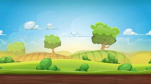 Simple Landscape Cartoon