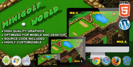 Mini Golf World   HTML5 Sport Game by codethislab   CodeCanyon Mini Golf World   HTML5 Sport Game   CodeCanyon Item for Sale