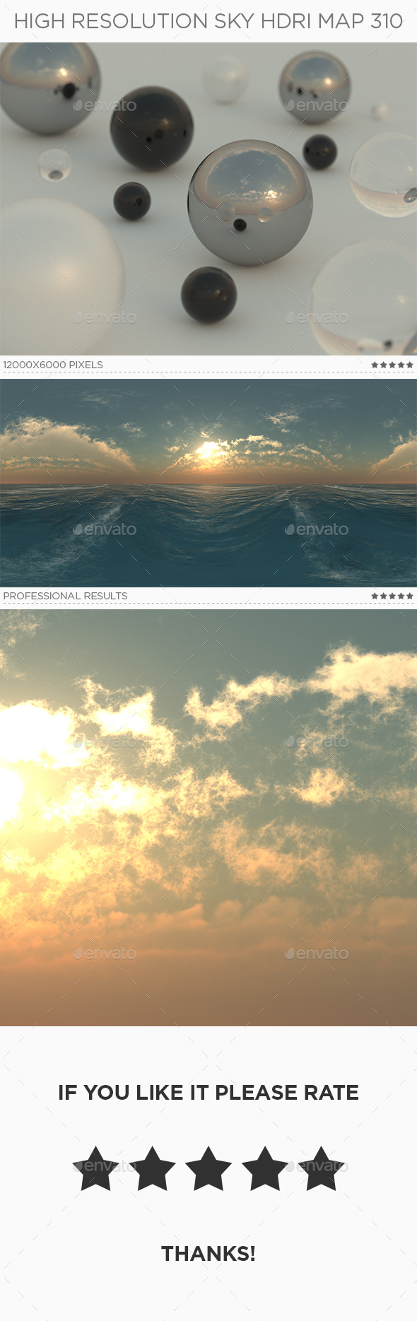 High Resolution Sky HDRi Map 310 by traint   3DOcean High Resolution Sky HDRi Map 310   3DOcean Item for Sale