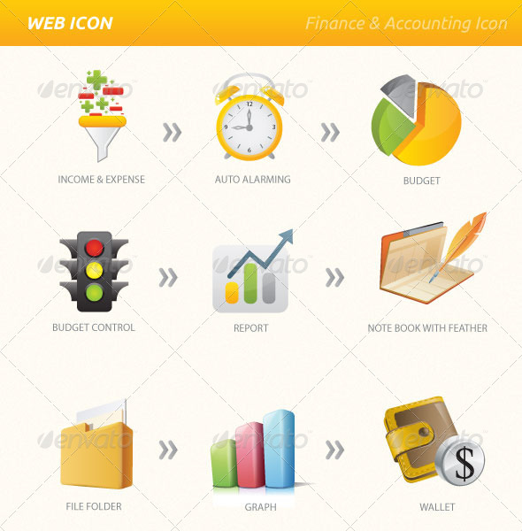 Finance Accounting Vector Amp Png Icon Set By Dklipi