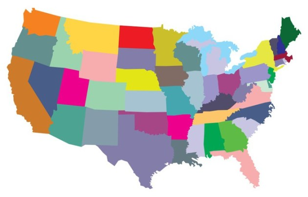 USA map with states Wall Mural     Pixers         We live to change USA map with states Vinyl Wall Mural   Themes