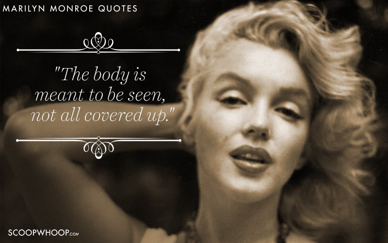 52 Quotes By Marilyn Monroe That Break The  Dumb Blonde  Stereotype Advertisement