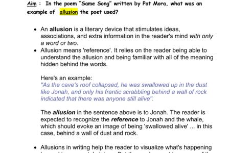 Allusion Examples Sentences
